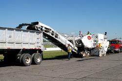 Removal of old Gateway asphalt