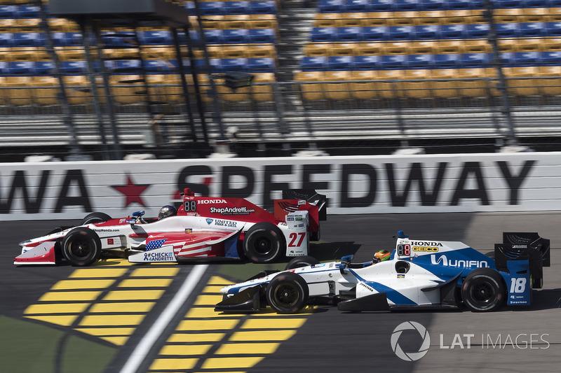 Marco Andretti, Andretti Autosport Honda, Esteban Gutierrez, Dale Coyne Racing Honda