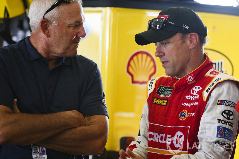 Matt Kenseth, Joe Gibbs Racing Toyota, mit Dale Jarrett