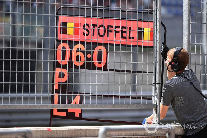 Табличка для Стоффеля Вандорна, McLaren