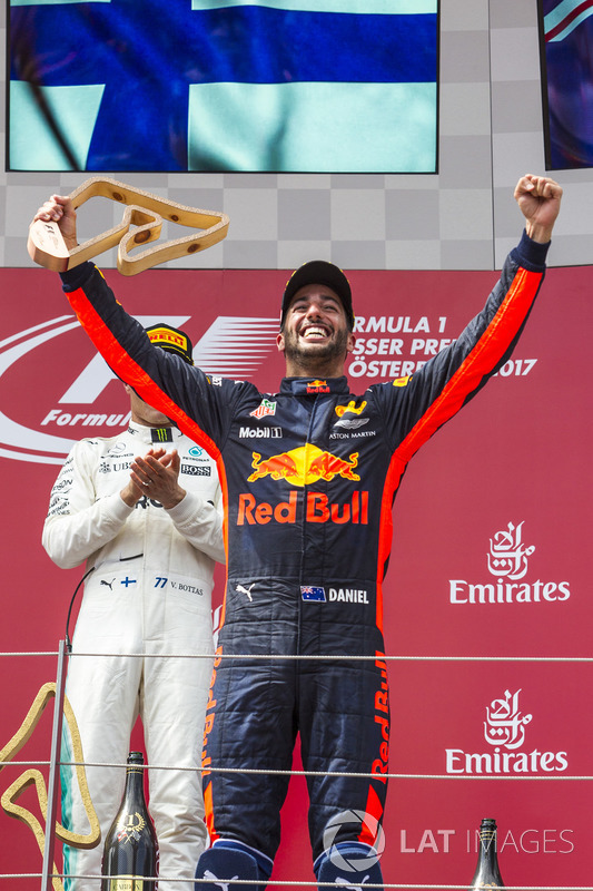 Podium: third place Daniel Ricciardo, Red Bull Racing