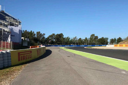 Track view with bollard