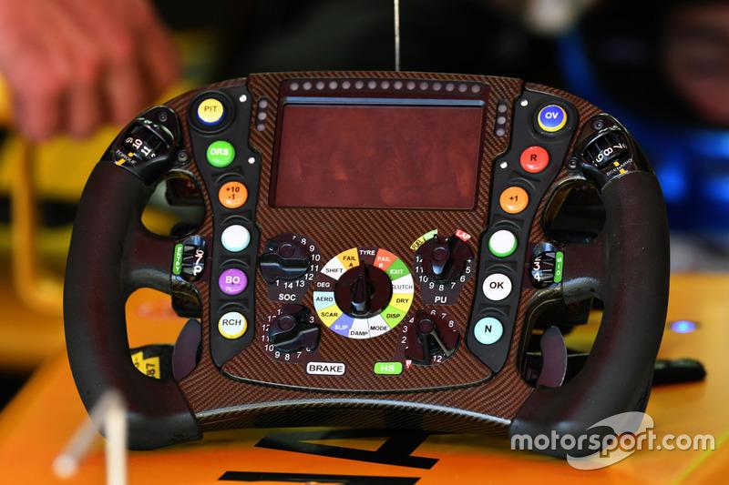 Renault Sport F1 Team RS17 steering wheel