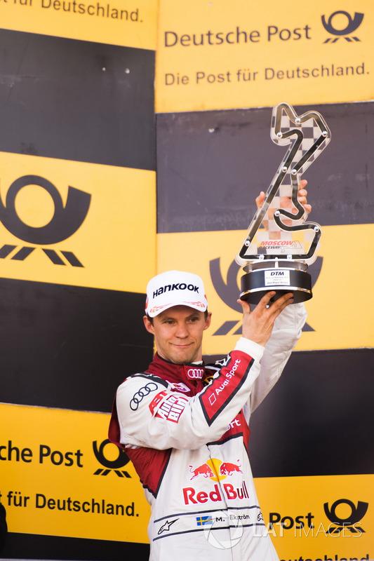 Podio: segundo lugar Mattias Ekström, Audi Sport Team Abt Sportsline, Audi A5 DTM