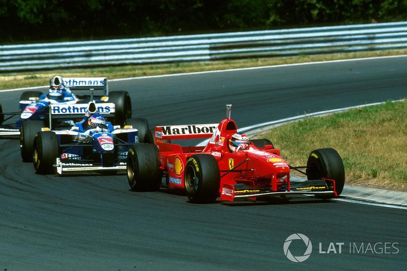 Michael Schumacher, Ferrari F310B ve Jacques Villneuve, Williams
