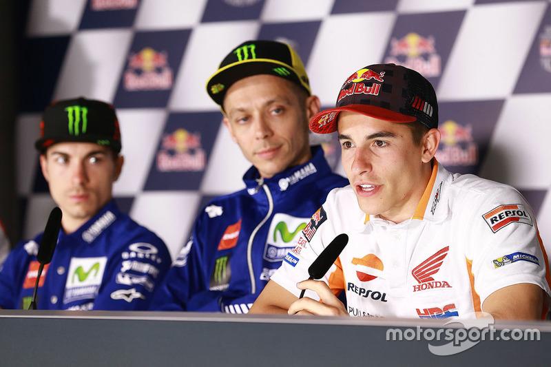 Maverick Viñales, Yamaha Factory Racing, Valentino Rossi, Yamaha Factory Racing, Marc Marquez, Repso