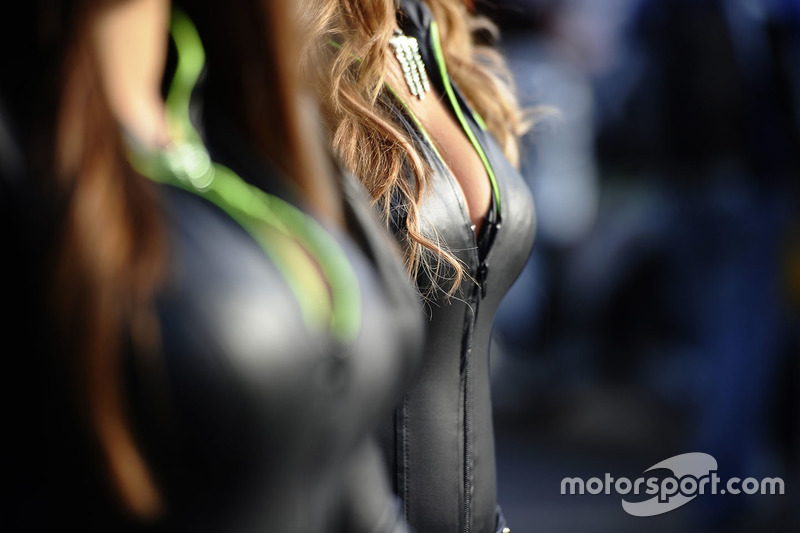 Hot Monster energy girl detail