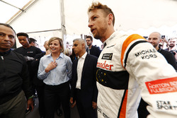 Susie Wolff, Sadiq Khan, Mayor of London, Jenson Button, McLaren