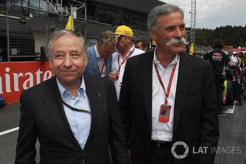 Жан Тодт, президент FIA , Чейз Кері, голова групи Формули 1