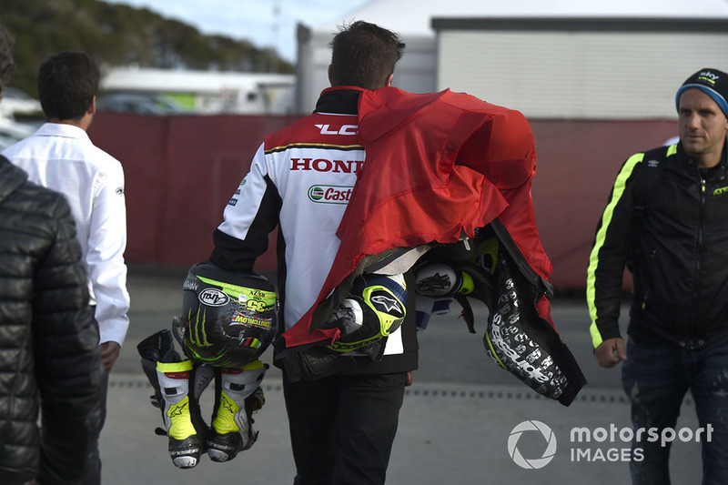 La tuta di Cal Crutchlow, Team LCR Honda dopo l'incidente