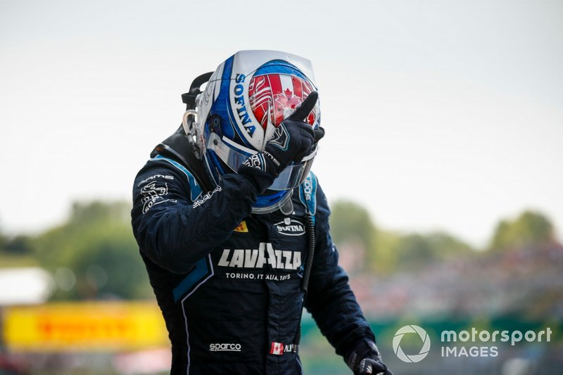 Race winner Nicholas Latifi, Dams celebrates in parc ferme