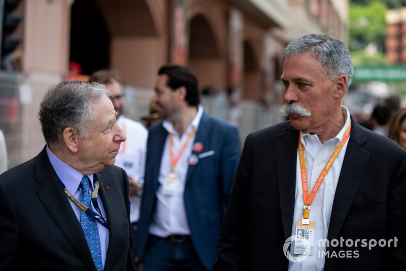 Jean Todt, President, FIA, and Chase Carey, Chairman, Formula 1