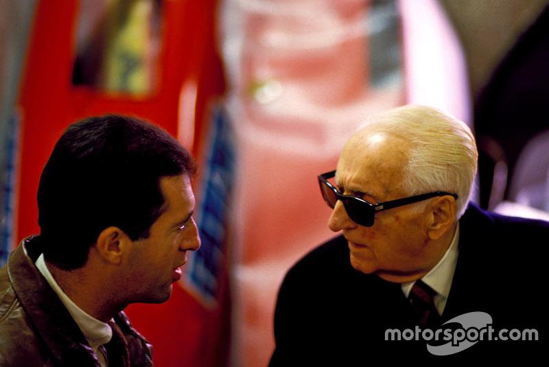 Enzo Ferrari con il figlio Piero
