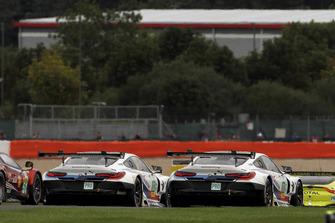 #82 BMW Team MTEK BMW M8 GTE: Antonio Felix da Costa, Augusto Farfus, #81 BMW Team MTEK BMW M8 GTE: Martin Tomczyk, Nicky Catsburg