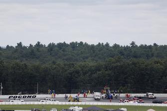 Unfallstelle von Robert Wickens, Schmidt Peterson Motorsports Honda, in Pocono