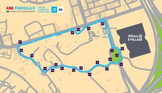 Ad Diriyah track layout