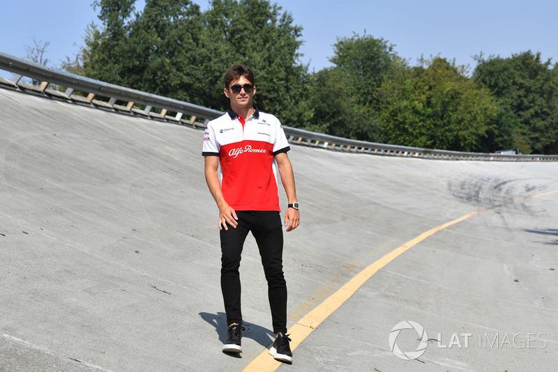 Charles Leclerc, Alfa Romeo Sauber F1 Team on the Monza banking