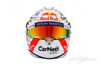 Presentazione del casco di Max Verstappen