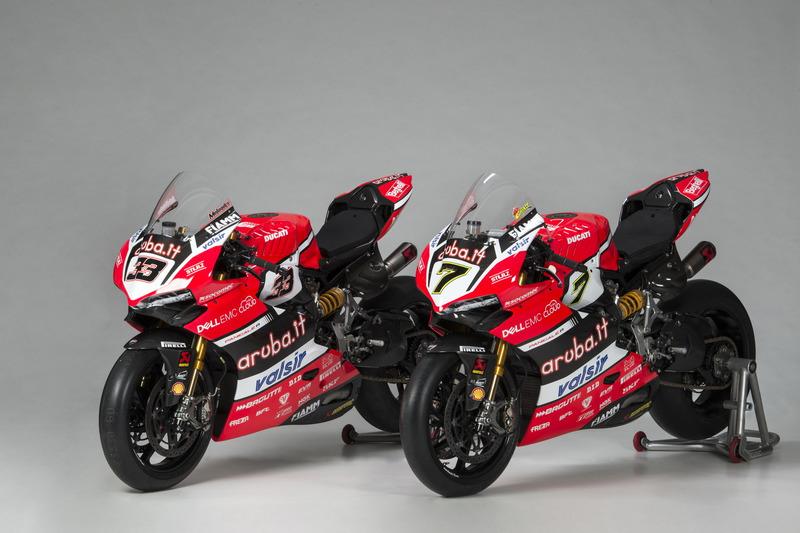 Bikes of Marco Melandri and Chaz Davies, Ducati Team