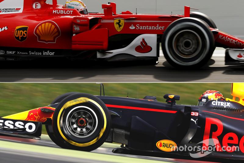 Red Bull Racing RB13 & Ferrari SF70H bargeboard