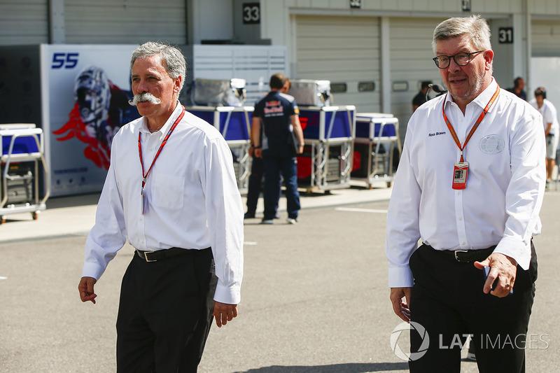Chase Carey y Ross Brawn F1