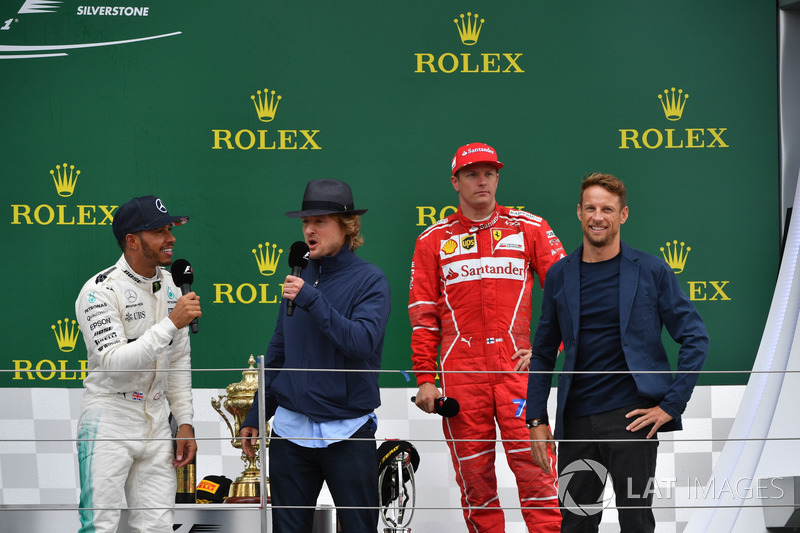 Льюіс Хемілтон, Mercedes AMG F1, Оуен Вілсон, Кімі Райкконен, Ferrari, Дженсон Баттон