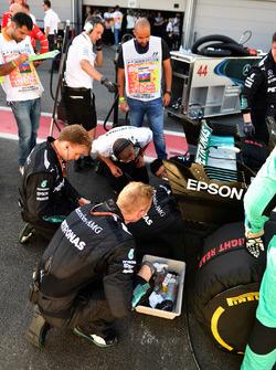 The car of Lewis Hamilton, Mercedes AMG F1 W08
