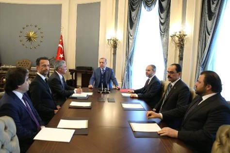 Pertemuan Presiden Turki, Recep Tayyip Erdogan, dengan CEO Formula 1, Chase Carey