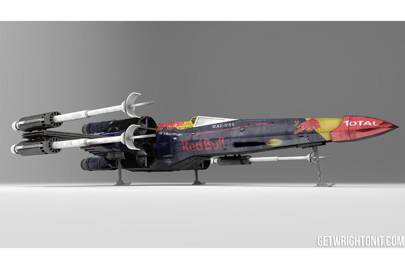 X-Wing im Red-Bull-Design