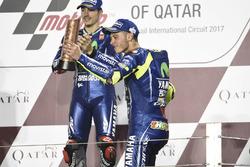 Podio: Maverick Viñales, Yamaha Factory Racing, Valentino Rossi, Yamaha Factory Racing