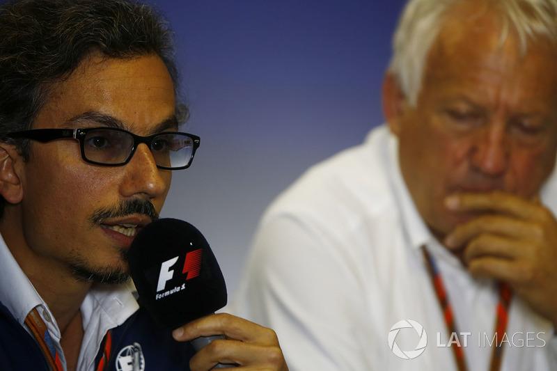Laurent Mekies, FIA-Sicherheitschef, Charlie Whiting, FIA-Rennleiter