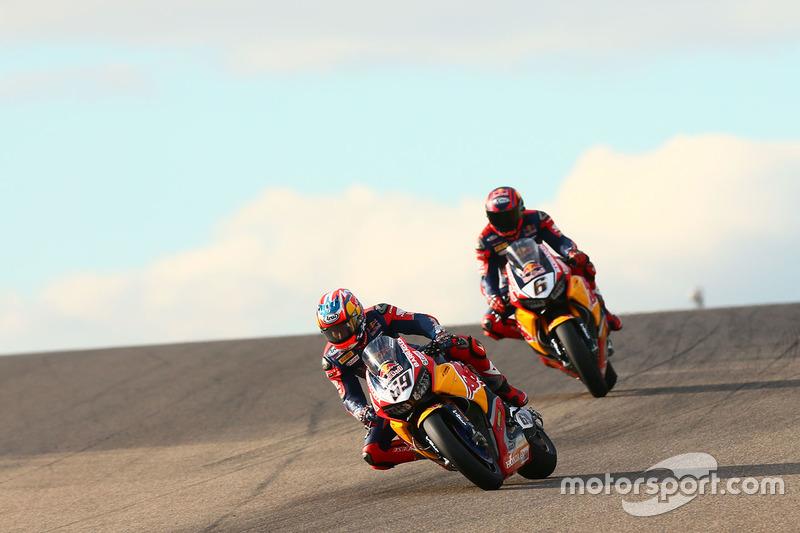Nicky Hayden, Honda World Superbike Team; Stefan Bradl, Honda World Superbike Team