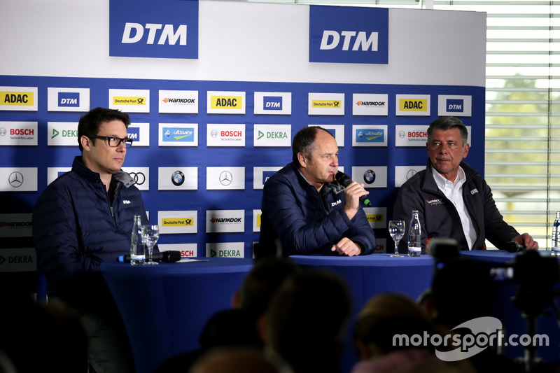 Florian Zitzlsperger, ITR, Gerhard Berger, ITR director, Manfred Sandbichler, Hankook tires