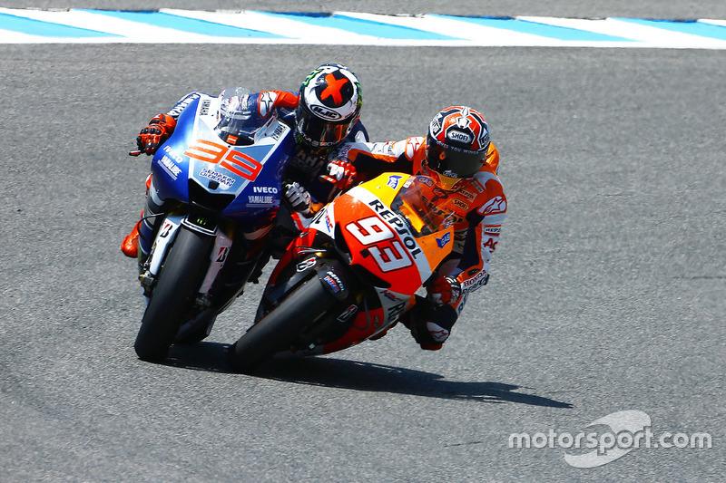 Marc Marquez, Repsol Hond y Jorge Lorenzo, Yamaha