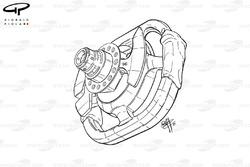 BAR 003 steering wheel (Villeneuve)