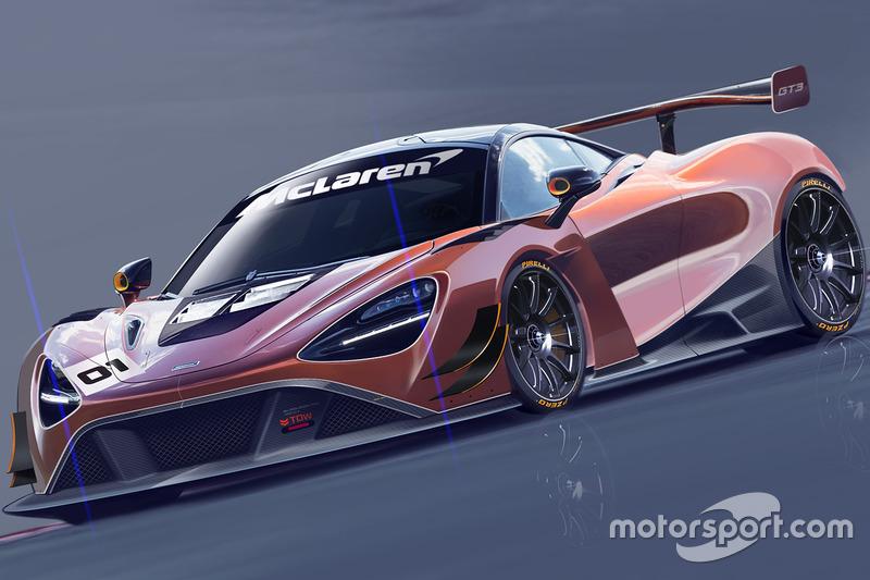 McLaren 720S GT3 rendering