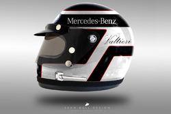 Valtteri Bottas 1970's helmet concept