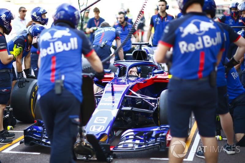 Simulation d'arrêt au stand pour Toro Rosso
