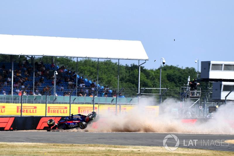 L'accident de Brendon Hartley, Scuderia Toro Rosso STR13