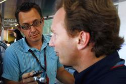جوناثان نوبل في لقاء مع كريستيان هورنر، مدير فريق ريد بُل ريسينغ