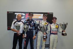 Podium: Franz Engstler, third place Giacomo Altoè, Race winner Luca Engstler , second place Florian Thoma
