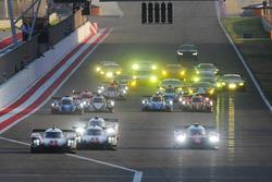 Arrancada #1 Porsche Team Porsche 919 Hybrid: Neel Jani, Andre Lotterer, Nick Tandy #7 Toyota Gazoo Racing Toyota TS050-Hybrid: Mike Conway, Kamui Kobayashi, Jose Maria Lopez