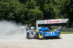 #49 High Class Racing Dallara P217 - Gibson: Dennis Andersen, Anders Fjordbach, run wide