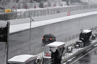 Course car as snow stops testing