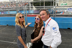Actress Sienna Miller with Alejandro Agag, CEO, Formula E