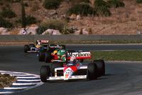 Alain Prost, McLaren MP4/4; Thierry Boutsen, Benetton B188; Nigel Mansell, Williams FW12