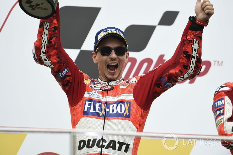 Podio: segundo clasificado, Jorge Lorenzo, Ducati Team
