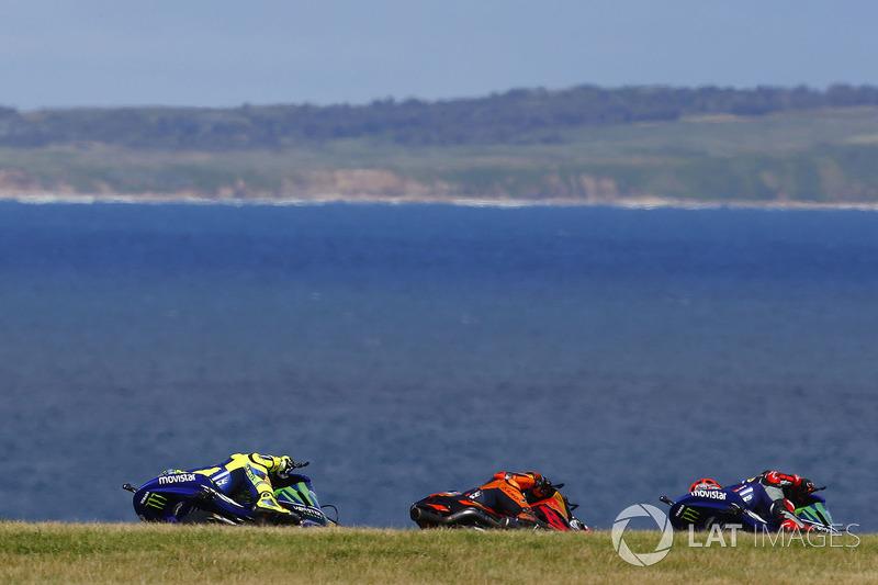 Маверік Віньялес, Yamaha Factory Racing, Пол Еспаргаро, Red Bull KTM Factory Racing, Валентино Россі, Yamaha Factory Racing