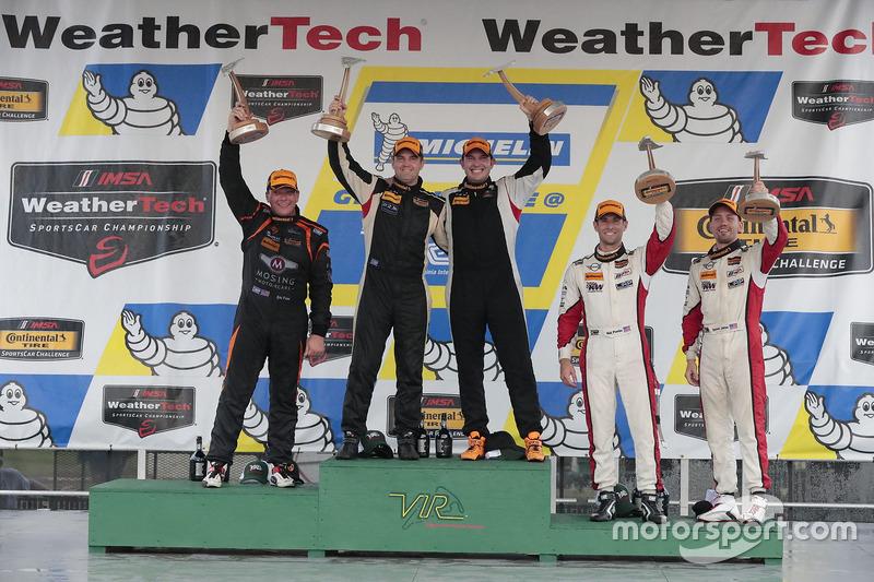 ST Class Podium: first place Chad Gilsinger, Ryan Eversley, HART, second place Jeff Mosing, Eric Foss, Murillo Racing