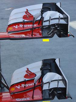 مقارنة الجناح الأمامي لسيارة فيراري إس.إف16-اتش